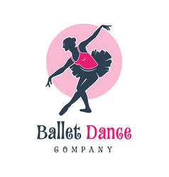 logo design people dancing ballet vector image