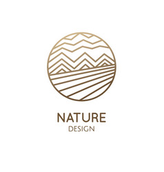 Logo mountain landscape vector