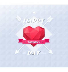 Love symbol Low-poly colorful style Red origami vector image