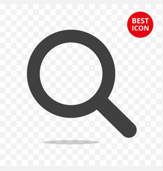 Magnifying glass icon icon search trendy flat vector