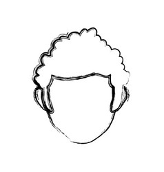 male faceless head vector image
