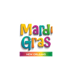 Mardi Gras card sign vector