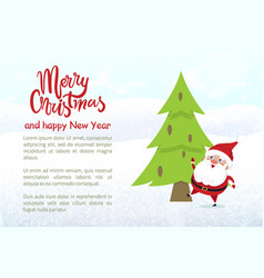 merry christmas and happy new year character vector image