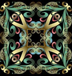 modern ornate paisley seamless pattern beautiful vector image