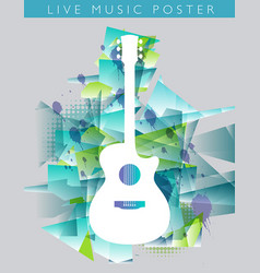 music background with an acoustic guitar vector image