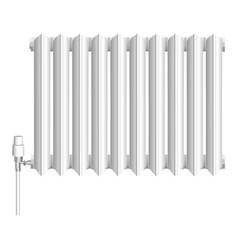Old heat radiator icon realistic style vector