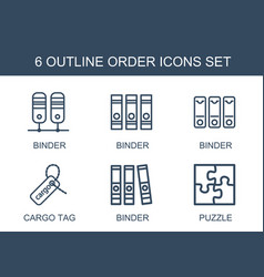 order icons vector image