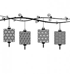 Paper lanterns vector
