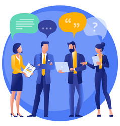 people chatting with speech bubbles vector image