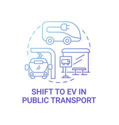 Public transport future concept icon vector