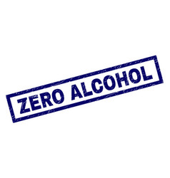 Rectangle scratched zero alcohol stamp vector