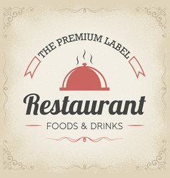 retro restaurant logo design vector image