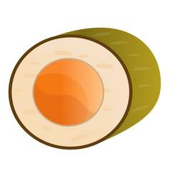 salmon sushi roll icon cartoon style vector image