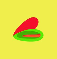Scallop sea shell sketch style vector