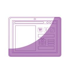 Shopping online website vector