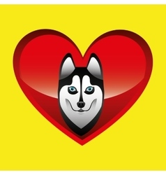 Siberian husky dog face design vector