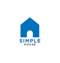 simple elegant blue house icon design template vector image