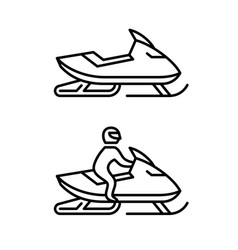 snowmobile with man driving and no man sign side vector image