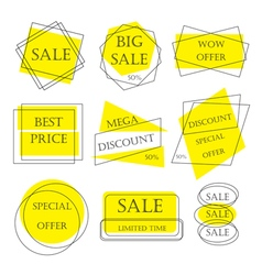 Special offer sale tag discount retail sticker pri vector