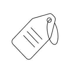 String tag line icon vector