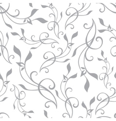 Swirly Branches Gray Vintage Seamless vector