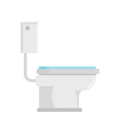 toilet icon flat style vector image