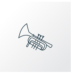 trumpet icon line symbol premium quality isolated vector image