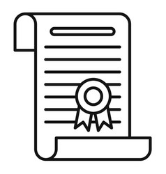 university diploma icon outline style vector image