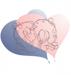 Valentine's couple vector image