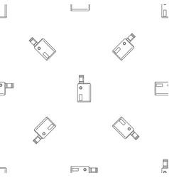 Vaping box pattern seamless vector