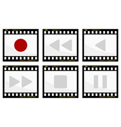 video buttons vector image