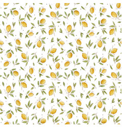 watercolor lemon seamless pattern vector image