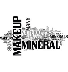 what is mineral makeup text word cloud concept vector image