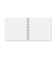 white realistic opened notebook cover vector image