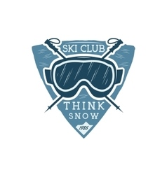 Winter sports ski club Label with goggles Vintage vector image