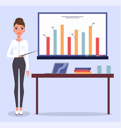 young beautiful businesswoman or top manager bar vector image
