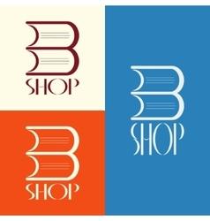 Book shop logo design vector image vector image