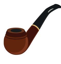 Brown smoking pipe vector image