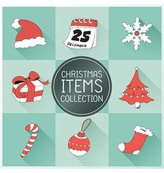 Christmas Icons set vector image vector image