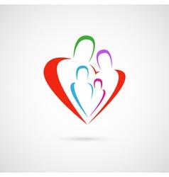 family emblem vector image