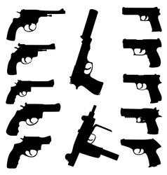 Guns set vector