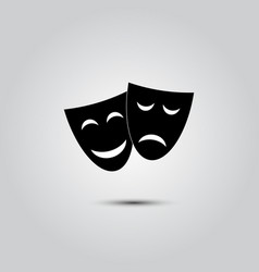 happy and sad theater masks vector image vector image