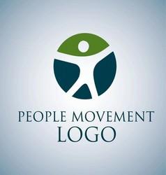 PEOPLE MOVEMENT LOGO 2 vector image