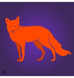 Red fox silhouette vector image vector image