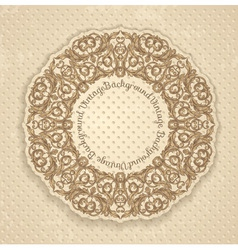 round decorated frame vector image vector image