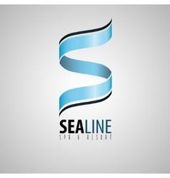 s logo spa and resort logo spa logo sea design vector image vector image