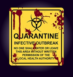 Sign of infected area Quarantine zone vector image