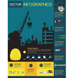 Construction info-graphics containing vector image vector image