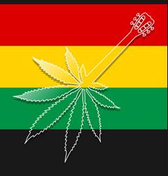 guitar as marijuana vector image vector image