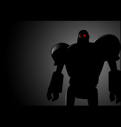 silhouette of a robot vector image